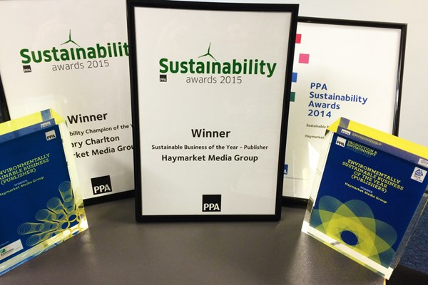 Haymarket awarded Sustainable Business of the Year for fourth time