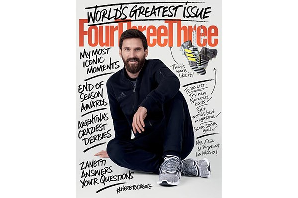 Lionel Messi edits FourFourTwo… and changes the magazine's name!